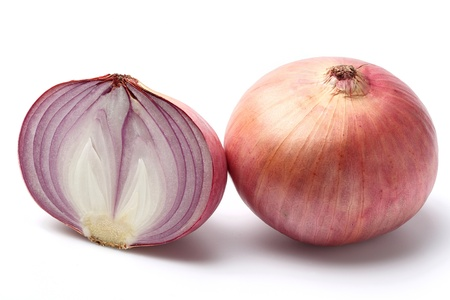Indian onion isolated on white Stock Photo - 16947092