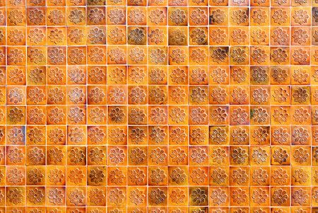 Ancient wall tiles outside the building Stock Photo - 17011236