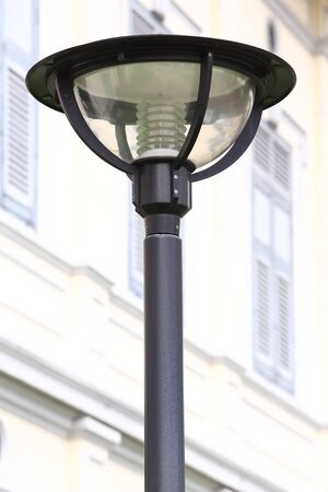 Outdoor lamp outside the building photo