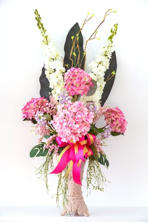 Bouquet of flowers in a vase photo