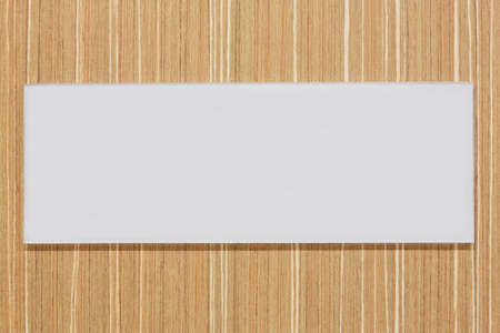 White Blank sign board on wood wall photo