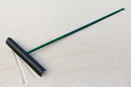 Golf Course Equipment Sand Rake  photo