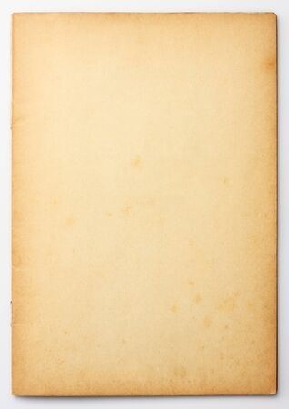 Old and weathered blank note paper  photo