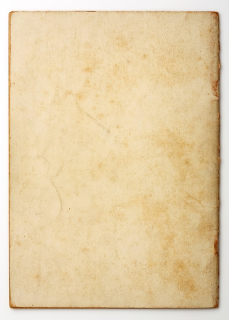 burnt paper: Old and weathered blank note paper