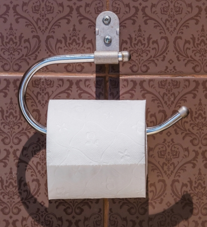 White tissue paper in toilet photo