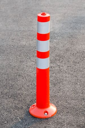 pu: PU lane divider on asphalt road