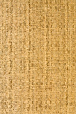 Straw mat para la decoraci�n de la pared photo