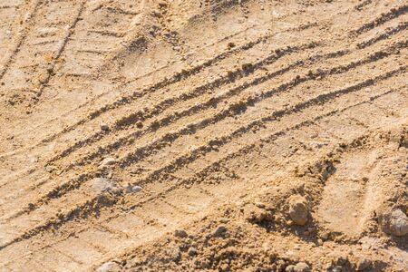 Wheel tracks on the ground Stock Photo - 18956164