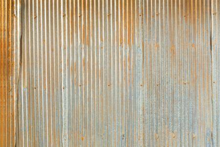 galvanized: Grunge Corrugated Zinc Sheet wall Stock Photo