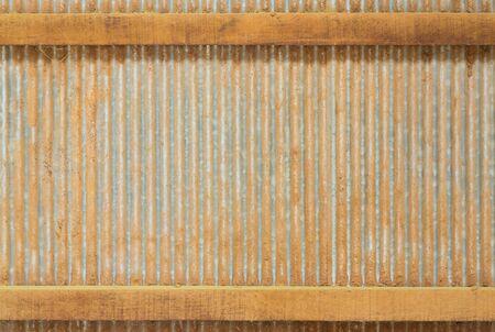 Close up corrugated Zinc Sheet wall photo