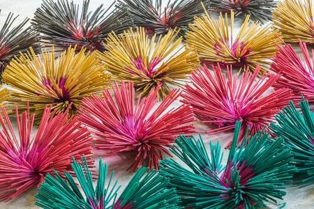 Thai incense sticks preparation in Bangkok Stock Photo - 19046103
