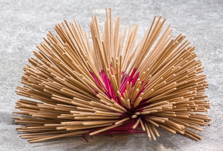 Thai incense sticks preparation in Bangkok Stock Photo - 19046051