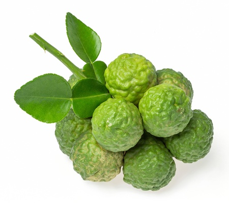 Bergamot fruit isolated on white background photo