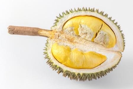 Thai durian isolated on white background photo