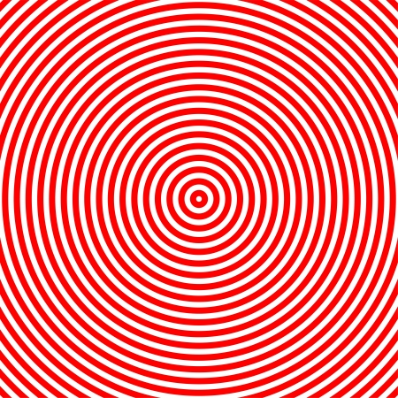 hypnotize: Hypnotize red and white circle graphic in square area