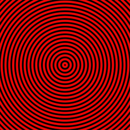 magnetize: Hypnotize red and black circle graphic in square area Stock Photo