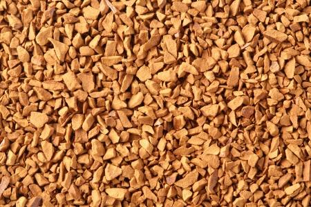 freeze dried: Close up de color caf� liofilizado de oro Foto de archivo