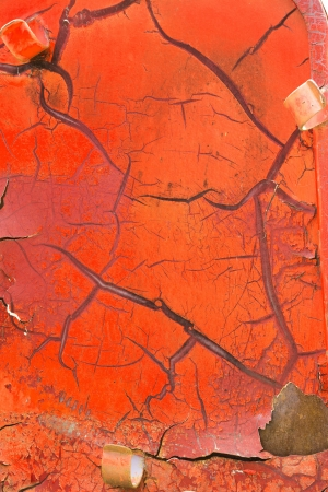 Close up red color cracked paint texture background Stock Photo - 19929838