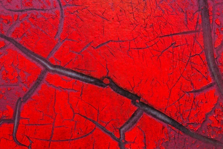 Close up red color cracked paint texture background Stock Photo - 19929837