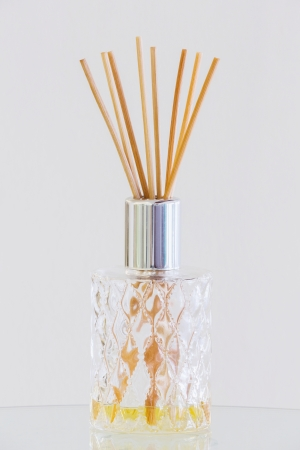 scent: Close up Aroma sticks in crystal glass bottle for decoration and good scent