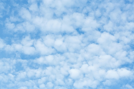nimbi: Abstract blue sky with white cloud background Stock Photo