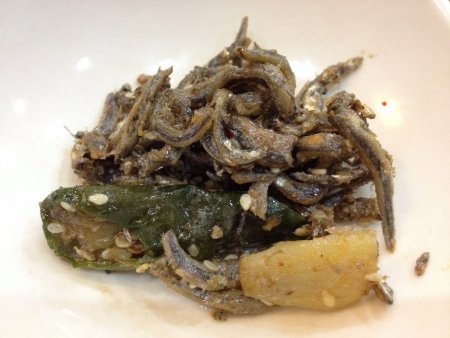 anchovy: Korean appitizer salted anchovy spicy salad