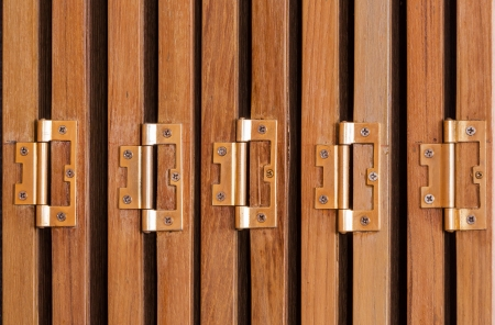 Hinges on folding doors in vintage style house Stock Photo - 21048242