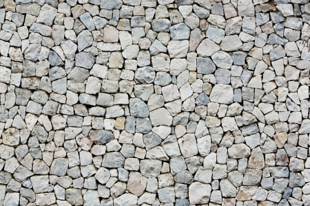 gravel roads: Close up old and weathered stone wall outside of building Stock Photo