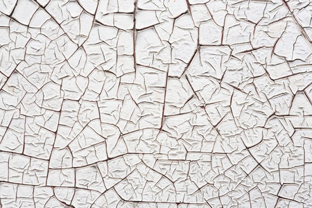 Close up white color cracked paint texture background Stock Photo - 22075785