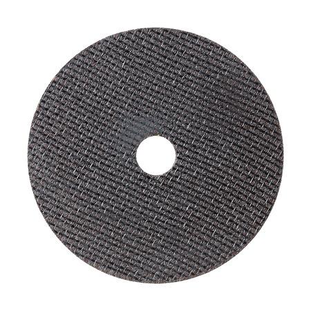 4 wheel: Ci�rrese encima de 4 pulgadas de metal de la rueda de corte aislado en blanco