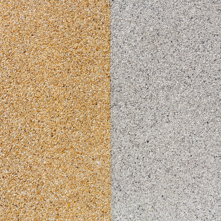 Close up gray and yellow color rough gravel floor Stock Photo - 28152424