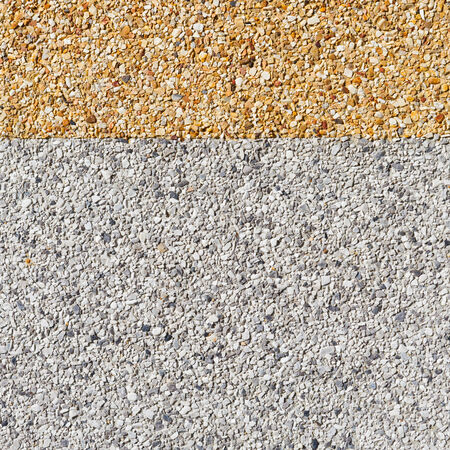 Close up gray and yellow color rough gravel floor Stock Photo - 28152428