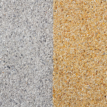 Close up gray and yellow color rough gravel floor Stock Photo - 28152429