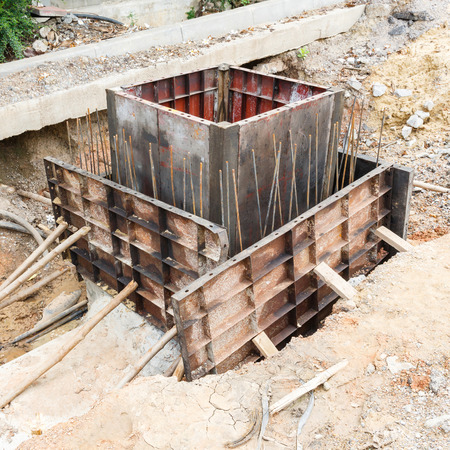 Close up sewer installation in city  photo