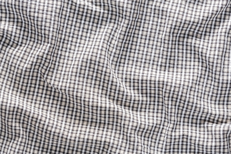 dishevelled: Close up wrinkled old and dirty checkerboard pattern cloth texture Stock Photo