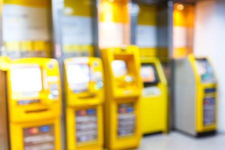 automatic teller machine: Resumen borrosa cajero autom�tico o ATM en edificio de oficinas