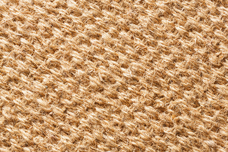 Close up brown color coconut fiber mat texture
