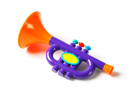 Close up plastic toy trumpet for children isolated on white stock close up plastic toy trumpet for children isolated on white stock photo 37907397 sciox Choice Image