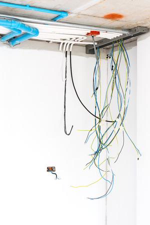 Schließen Sie Die Installation Elektrischen Verteilungssystem An Der ...
