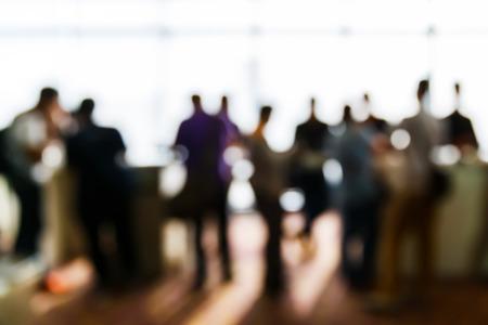 personas de pie: Abstract gente borrosa en caso rueda de prensa, concepto de negocio