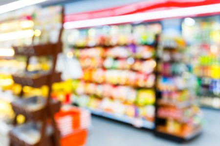 Blurred convenience store, lifestyle shopping concept Archivio Fotografico