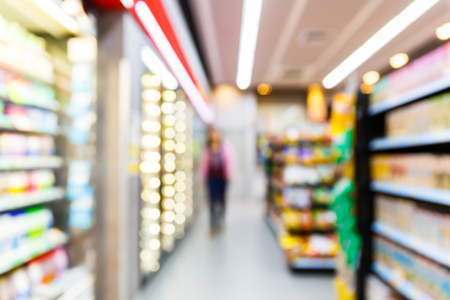 convenience: Blurred convenience store, lifestyle shopping concept Stock Photo