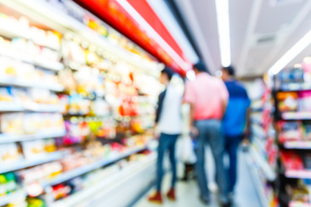 convenience store: Blurred convenience store, lifestyle shopping concept Stock Photo