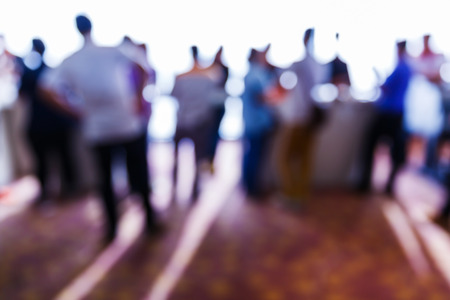Abstract blurred people in press conference event, business concept Stock fotó