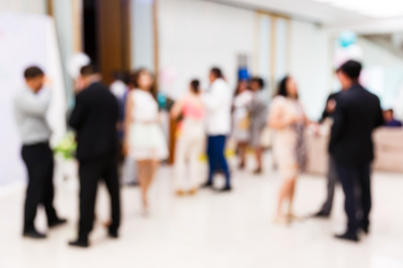 Abstract blurred people in party, sociability lifestyle concept