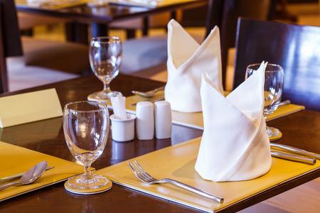 set up: Elegance table set up for dinning room