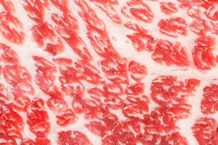 chuck: Close up beef chuck steak mabling