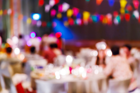 sociability: Abstract blur people in party, sociability lifestyle concept
