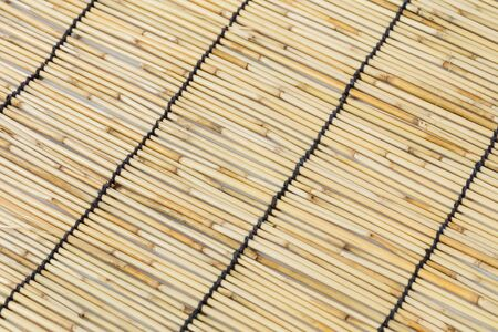 chinese bamboo: Close up Japanese or Chinese bamboo curtain Stock Photo