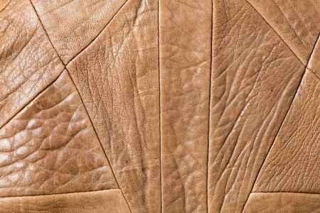 genuine leather: Close up brown color genuine leather texture Stock Photo
